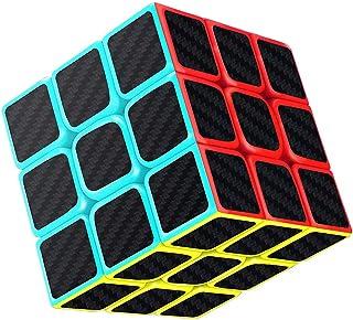 Axcone Cubo Fibra del Carbón Cubo mágico Cubo Puzzle Cubo Mágico Inteligencia Mágico Cubo Rompecabezas y Fácil Giro, Súper Duradero para Brain Training Game para Regalo de Adulto para Niños?3x3?