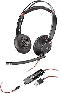Plantronics Blackwire 5220 Binaural Diadema Negro, Rojo - Auriculares con micrófono (Centro de Llamadas/Oficina, Binaural,...