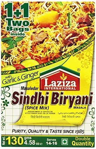 Laziza Sindhi Biryani Masala, 130-Gram Boxes (Pack of 6)