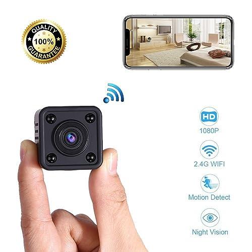Mini Cámara Espía WiFi | Cámara de Vigilancia Inalámbrica Oculta IP con Sensor de Movimiento y