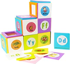 Magnetic Matching Blocks Set 78 Pieces Magnetic Sticks Set Creative Letters Word Matching Game Multicolor Toy Set for Kids,Toddlers,Teachers, Parents and ESL (Vehicle-78PCS)
