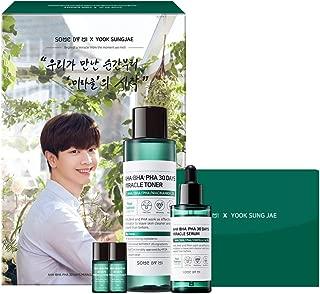 SOME BY MI X Yook Sung-Jae Aha.Bha.Pha 30Days Miracle Toner & Serum Limited Edition (Toner 150ml+Serum 50ml+Toner Sample 6ml2ea+Photocard 5ea)