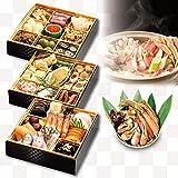 【くら寿司特製】おせち三段重&かに鍋600gセット【12月30日お届け】 四大添加物無添加