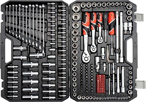 Steckschlüsselsatz 216 Tlg. Knarrenkasten Werkzeugkoffer TYP2 1/2' 3/8' 1/4' XXL