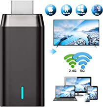 Miracast HDMI WiFi Inalámbrico Dongle, DIWUER 5G / 2.4G HDMI 1080P Adaptador de Receptor para Android / iPhone / iPad / Windows / Proyector / Monitor, Unterstützung Miracast DLNA Airplay