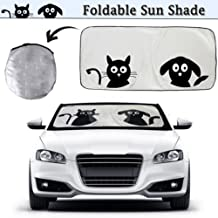 2win2buy Cartoon Car Windshield Sun Shade, Front Auto Car Windshield Sunshade Foldable UV Rays Sun Visor Protector with Unique Design to Keep Your Vehicle Cool and Damage Free (Pet Design-Big)