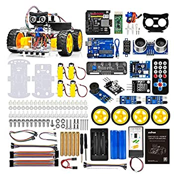 OSOYOO Robot Car Starter Kit for R3 | STEM Remote Controlled Educational Motorized Robotics for Building Programming Learning How to Code | IOT Mechanical DIY Coding for Teens Adults