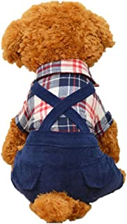 Oncpcare for Cold Weather Warm Dog Clothes Cozy Jumpsuit Outfits Dog Costume British Style Dog Suit with Overalls Pants