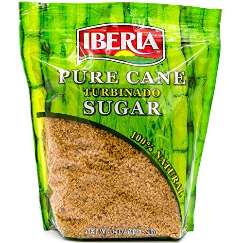 Iberia Turbinado Raw Sugar, 2 Lb, 100% Natural Raw Cane Sugar In a Resealable Bag (212629)