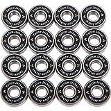 Yellow Jacket Premium Inline Skate Bearings, Roller Skate Bearings, 608, ABEC 11, Black Mamba (Pack of 16)
