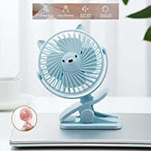 YXZQ Handheld Fan, Clip-on Personal USB with 3 Speeds with Rechargeable 1200mah Battery Strong Airflow but Whisper Quiet f...