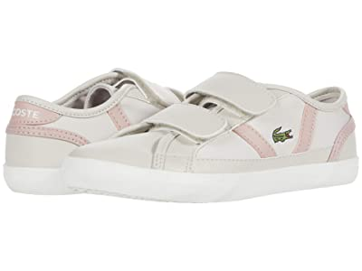 Lacoste Kids Sideline 0120 1 CUC (Little Kid) (Off-White/Light Pink) Kid