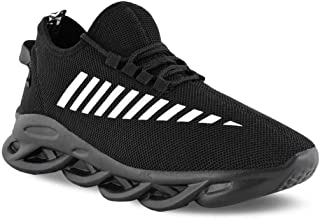 Camfoot Men's (9302) Black Casual Sports Running Shoes