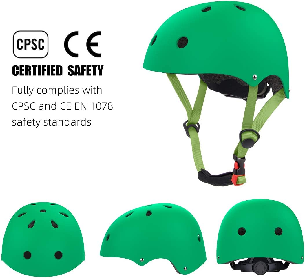 Age 2-16 Years Old CPSC Certified Bike Helmet for Skateboarding Roller Blading Scooter Riding Bicycling Skating and More EXZ Kids Helmet Adjustable Toddler to Youth