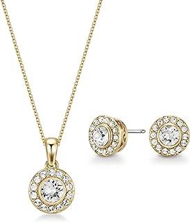 Mestige Women Glass Gold Emmie Set with Swarovski Crystals