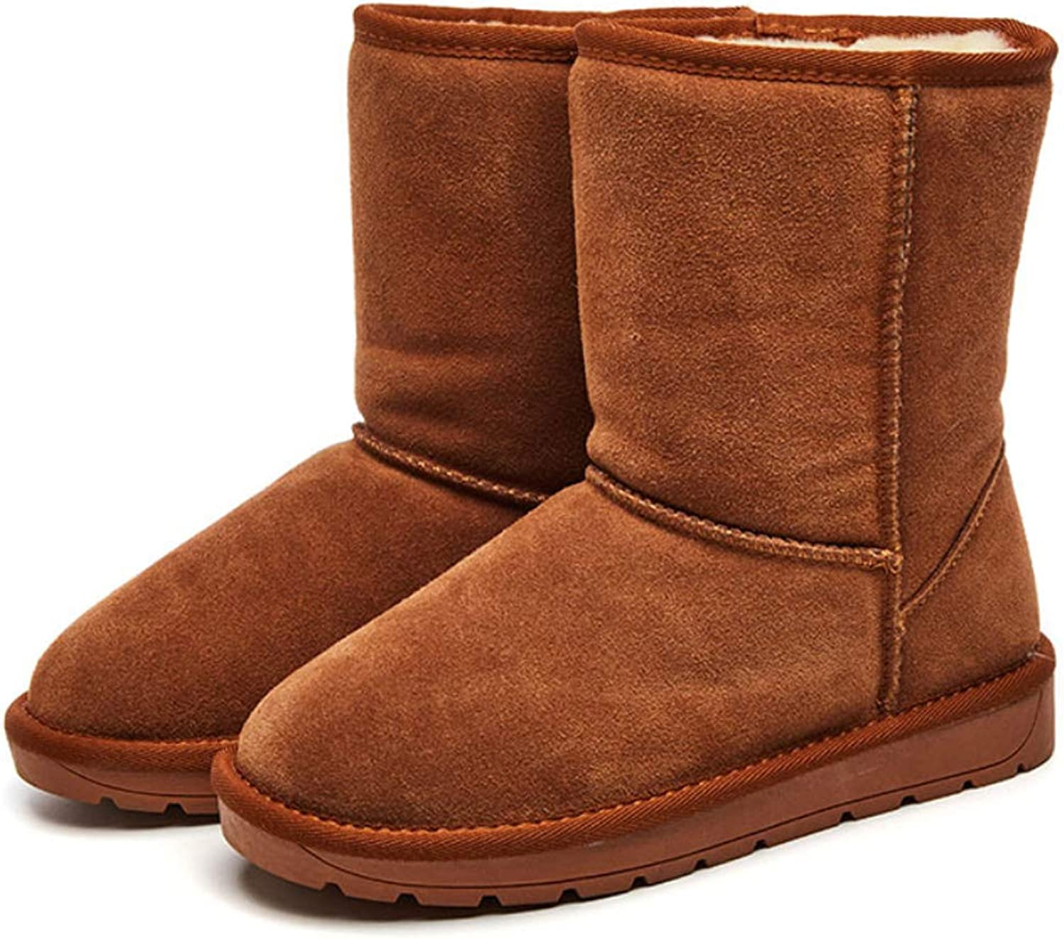 Women's Snow Boots Winter Warm Boots Flat Heel Round Toe Ankle Boots No-Slip shoes