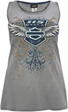 HARLEY-DAVIDSON Women's 115th Anniversary Flight Badge Sleeveless Tank, Gray