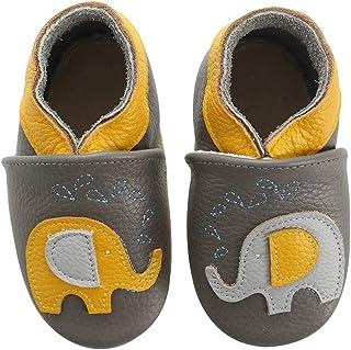 koshine Chausson Cuir Souple Bébé Chaussures Enfant Fille Garçon 0-24 Mois