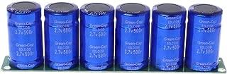 6 Pcs 2.7V 500F Super Farad Capacitor with Protection Board 16V 83F 2.5V700F