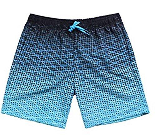 JameStyle26 Herren Sommer Badeshorts Badehose Beachvolleyball-Shorts Strandhose Beachsport Schwimmhose (L, Blau)