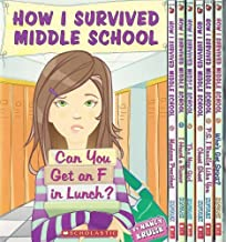 12 Book Set - How I Survived Middle School Series: Can You Get an F in Lunch?, Madame President, I Heard a Rumor, The New Girl, Cheat Sheet, P.S. I Really Like You, Who's Got Spirit?, It's All Downhill From Here + 3 More (How I Survived Middle School Set Series, Vol 1 - 8 + 10 - 12)