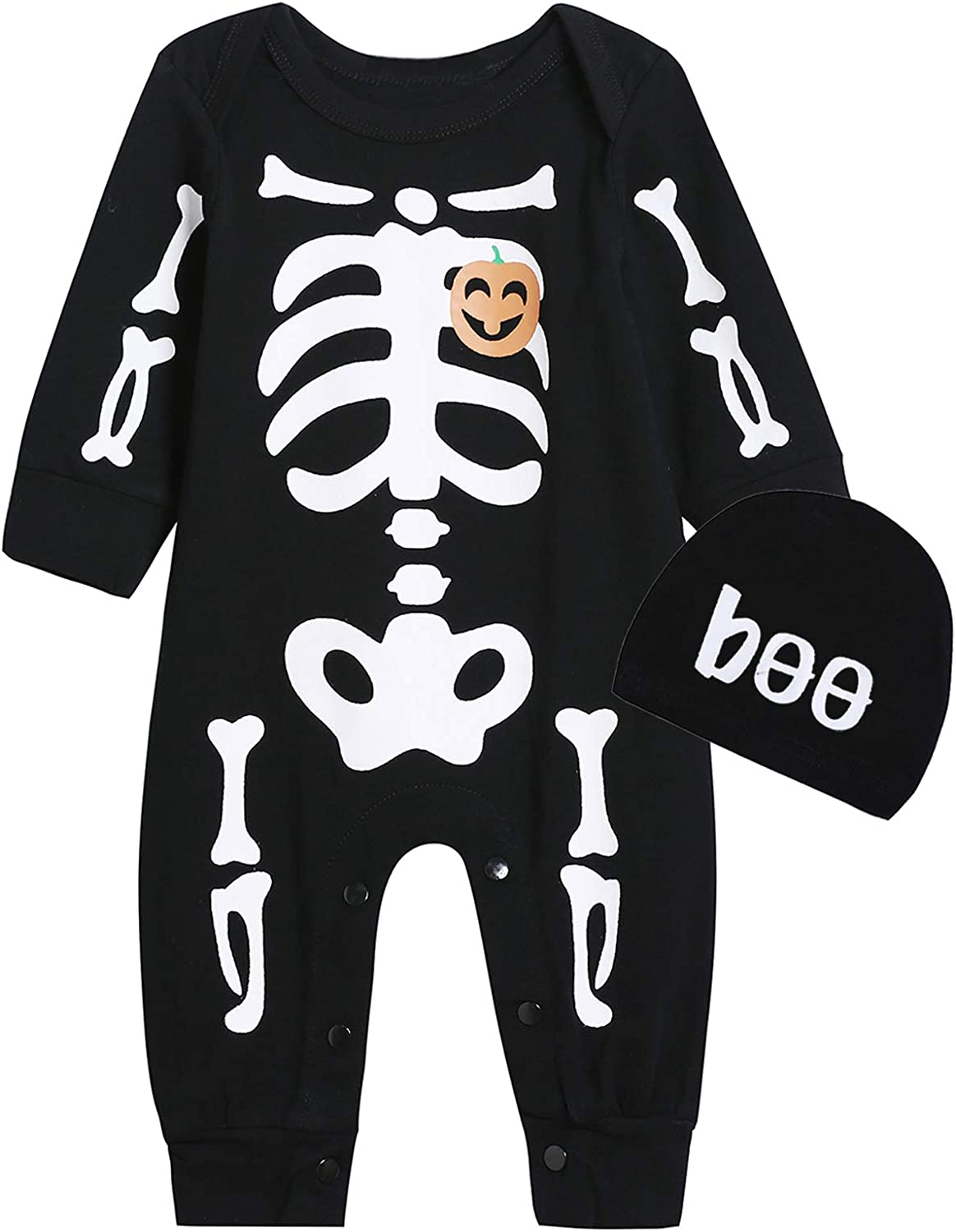 Singcoco Baby Boy Girl Halloween Outfit It is very Special Campaign popular Newborn Costume Skeleton