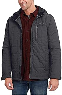 Orvis Men's Hooded Quilted Jacket (Charcoal,Large)