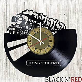 Flying Scotsman vinyl wall clock great gift for men, women, kids, girls and boys, birthday, christmas beautiful home decor - unique design that made out of vinyl LP record