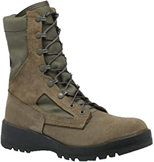 Belleville F600ST Women`s Hot Weather Steel Toe Green Olive Leather Boots