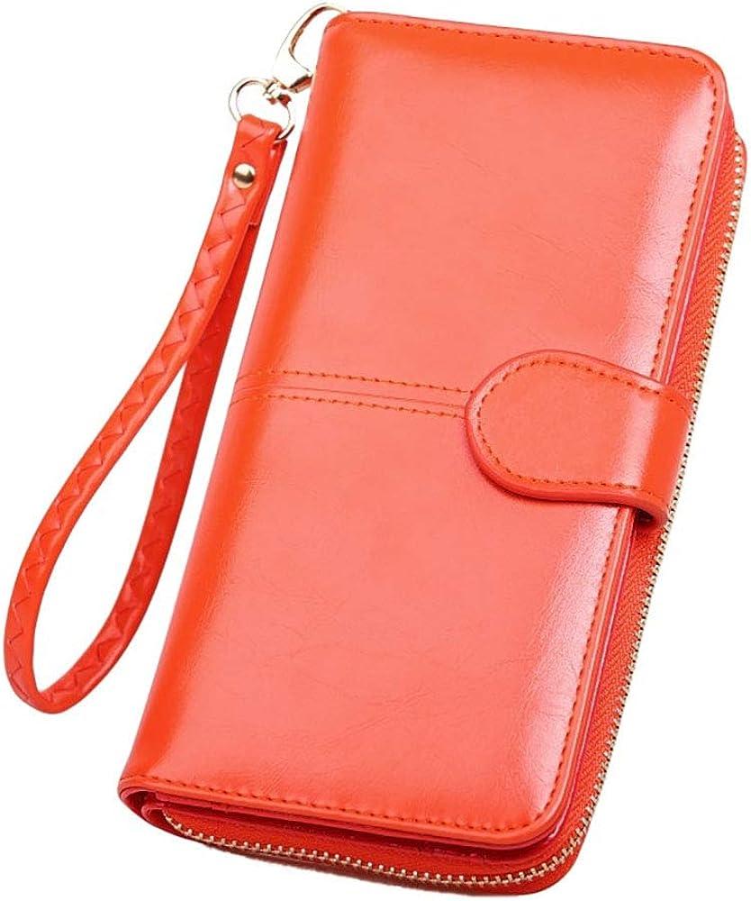 Tobe-u, portafoglio, porta carte di credito e portamonete, in pelle , per donna SS28000-Style 2-OrangeJP