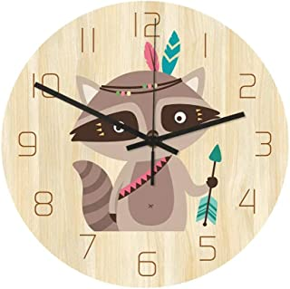 Reloj De Pared De Números Reloj de pared de silencio Patrón reloj de pared de cuarzo reloj de pared creativo de la ardilla...