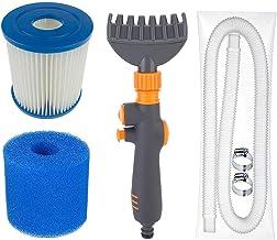 JIACUO Juego de Accesorios para Piscina de Verano Intex Misma Serie Elemento de Filtro Filtro de tubería de Agua Juego de Accesorios de Cepillo Productos