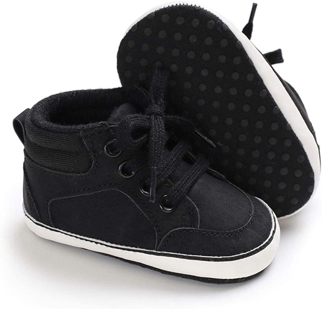 Infant Baby Boys Girls Shoes Canvas Toddler Sneakers Soft Sole Anti-Slip PU Leather Newborn First Walker Crib Shoes