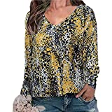 x8jdieu3 Camiseta de Manga Larga Plisada con Cuello en V y Estampado de Zou Plisado de Primavera para Mujer