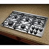 RGC365BNG Renaissance 36' Natural Gas Cooktop With 2-12' & 1-10' Platform Grates 5 Sealed Burners