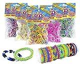 CRAZE Loops 300er Set Knüpfringe Premium Colors Silikonringe Armband Silikon Bänder Gummi Mega...
