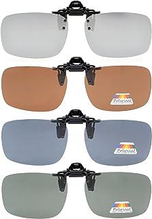 "Eyekepper Flip-up Clip-on Sunglasses Polarized 2 5/16""x1 9/16"" 3-Pack Metal Glasses Clip"