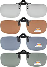 Eyekepper Flip-up Clip-on Sunglasses Polarized 2 3/8