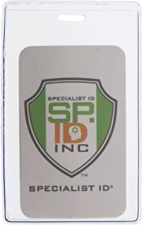 Clear Heavy Duty Vinyl Vertical Proximity Card Holder by Specialist ID, Packaged and Sold Individually
