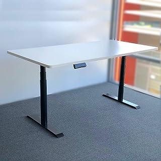 gku ProLift Standing Desk Sit Stand Riser Height Adjustable Dual Motorised Desk DK0121BK-DT (Desk Top 1400X700mm White)
