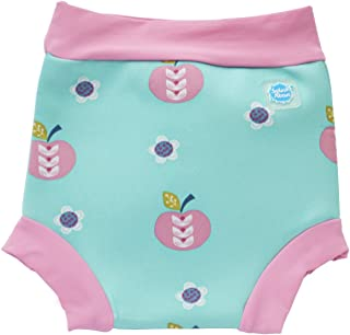 Happy Nappy HNADS Baby and Toddler Reusable Swim Diaper, Apple Daisy, Small 0-4 Months