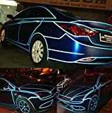 fangfei 0.4' X148' Car Reflective Body Rim Funny DIY Stickers Warning Safety Auto Motorcycle Bike Decal Body Cover Decoration Strip(Blue)