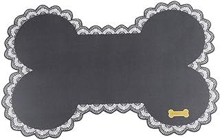 42 x 28 cm Beige PENVEAT Easy Cleanning Cani da Compagnia Gatti Ciotola Stuoia Tappetino Cucciolo Letto Pet Simpatico Osso Forma Contaier Tovaglietta per biberon