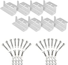 XOOL 2 Sets of Solar Panel Roof Mounting Z-Bracket with Nuts and Bolts for RV, Boat, Roof, Wall and Other Off Gird Roof Installation, Set of 4 Units