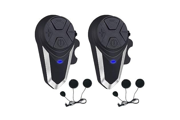 8f62cb5a9f5 Motorcycle Helmet Intercom, Fodsports BT-S3 1000m Motorcycle Bluetooth  Headset Intercom Wireless Interphone to 2-3 Riders  (Waterproof/Handsfree/Stereo ...