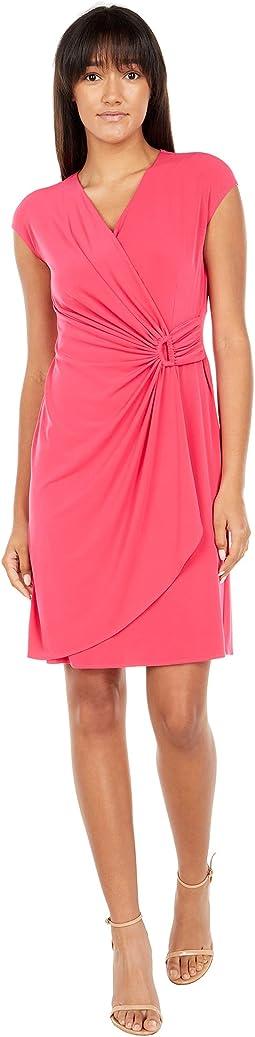 Carmela Short Sleeve Faux Wrap Dress