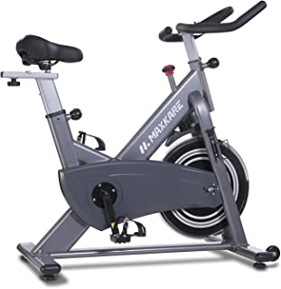 MaxKare Magnetic Exercise Bike Stationary Bike Belt Drive Indoor Cycling Bike Gym Level with High Weight Capacity Adjustable Magnetic Resistance w/Tablet Holder (Gray (No Pulse Sensors))