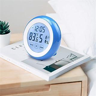 xdrfxrghjku Digital LCD Display Termómetro Interior Higrómetro Round Wireless Electronic Thermo-Higrómeter Weather Station...