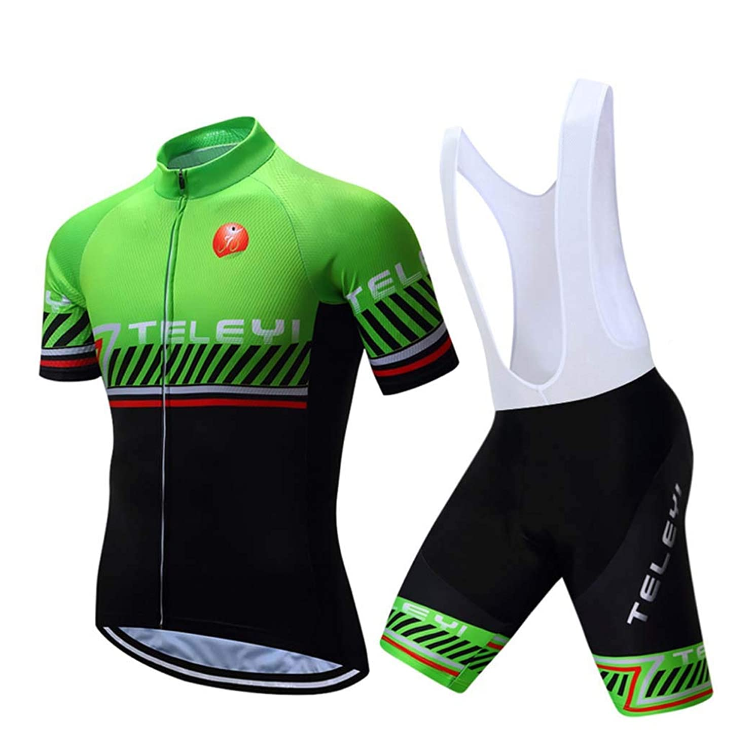 TELEYI Biker Shorts, Cycling Jersey Cycling Shorts Men Soft Breathable Waterproof with Padded for Outdoor Sports MTB Road Bicycle,A,XL
