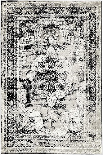 Unique Loom Sofia Collection Area Traditional Vintage Rug, French Inspired Perfect for All Home Décor, 5' 0 x 8' 0 Rectangular, Black/Gray